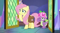 Spike entering Twilight Sparkle's bedroom S7E20