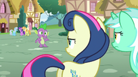 Spike offering to help Lyra and Sweetie Drops S7E15