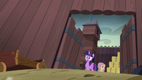 Twilight and Fluttershy in complete shock S5E23