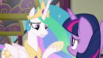 "Princess Celestia ""very specific about"" S8E1"