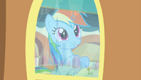 Rainbow Dash looking out train window S4E24