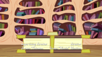 Spike being squashed by a book S3E1