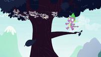 Spike sees leaf floating away S4E16