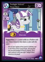 Twilight Velvet card MLP CCG