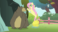 Fluttershy singing to the bear S4E14