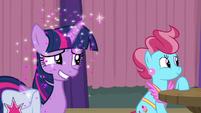 Glitter rains down on Twilight Sparkle S9E16