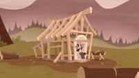 Piles McColt builds a house frame S5E23