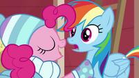 Pinkie Pie gloating to Rainbow Dash BGES1