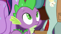 Spike notices water dripping on him S8E7
