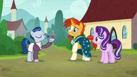 Starlight and Sunburst meet Sleek Pony S8E8