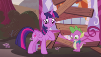 Twilight and Spike in depressed spirits S5E25