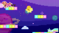 8-bit Sunset collecting star pickups CYOE12a