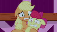 AJ and Apple Bloom tremble with fear S9E10