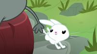 Angel Bunny hopping behind Muriel S9E18