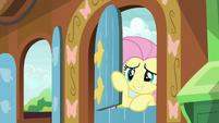 Fluttershy closing her front door S5E23