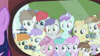 Foals looking at Twilight and taking pictures S4E15
