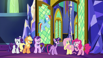 """Pinkie Pie """"what's his problem?"""" S9E1"""