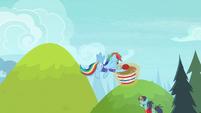 Rainbow Dash catches the buckball S8E17