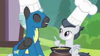 Rumble and Thunderlane looking happy S7E21