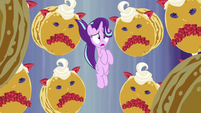 Starlight Glimmer surrounded by faced pancakes S7E10