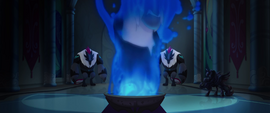 Storm King's image appears in the smoke MLPTM