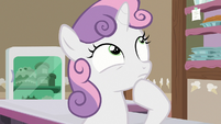 Sweetie Belle trying to remember S7E6