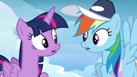 Twilight and Rainbow in surprising disagreement S6E24