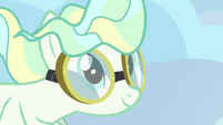 Vapor Trail smiling contently behind Sky Stinger S6E24
