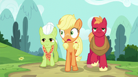 Applejack notices something near the hospital S6E23