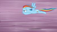 Rainbow Dash flying very fast S3E1