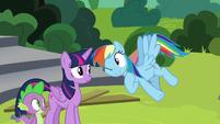 Rainbow Dash winking at Twilight Sparkle S8E7