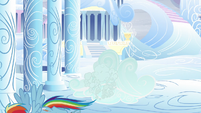 Rainbow escapes from the cloud S5E5