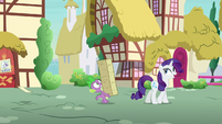 "Rarity ""just happened to be walking past"" S7E9"