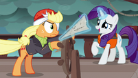 Rarity tries to take the map from Applejack S6E22