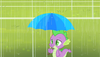 Spike getting rained on S4E24