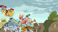 Pillars of Old Equestria charging into battle S7E26
