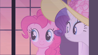 Pinkie Pie looking out of window S2E9