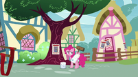 Pinkie putting up missing pony posters S8E3
