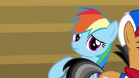 Quibble walks away from Rainbow Dash S9E6