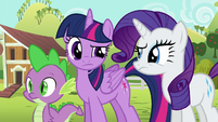 Twilight and Rarity still very confused S6E10