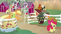 AJ and Apple Bloom gallop from home S9E10