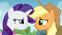 """Applejack and Rarity """"uh-oh"""" S4E22"""