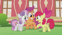 Cutie Mark Crusaders ecstatic S5E18