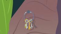 Fluttershy's keys land back on the hook S9E18