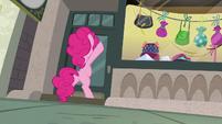 Pinkie Pie still pounding on the door S6E3