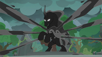 Pony of Shadows unleashing black tendrils S7E26