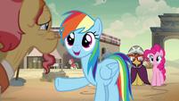 "Rainbow ""an awesome adventure pony hero"" S7E18"
