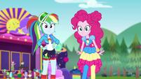 Rainbow and Pinkie look at Applejack CYOE15