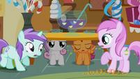 S01E12 Sweetie Belle i Scootaloo pod stołem