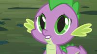 Spike's eyes grow big S3E9